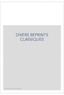 DIVERS REPRINTS CLASSIQUES