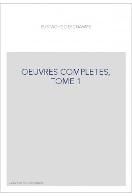 OEUVRES COMPLETES, TOME 1