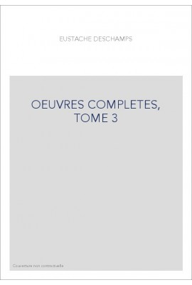 OEUVRES COMPLETES, TOME 3