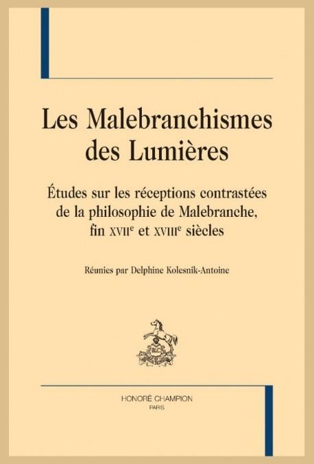 LES MALEBRANCHISMES DES LUMIÈRES