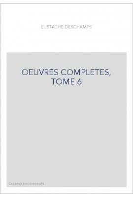OEUVRES COMPLETES, TOME 6