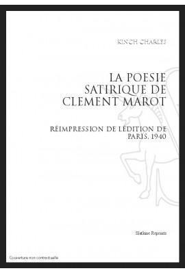 LA POESIE SATIRIQUE DE CLEMENT MAROT