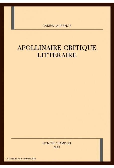 APOLLINAIRE CRITIQUE LITTERAIRE