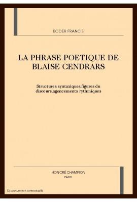 LA PHRASE POETIQUE DE BLAISE CENDRARS