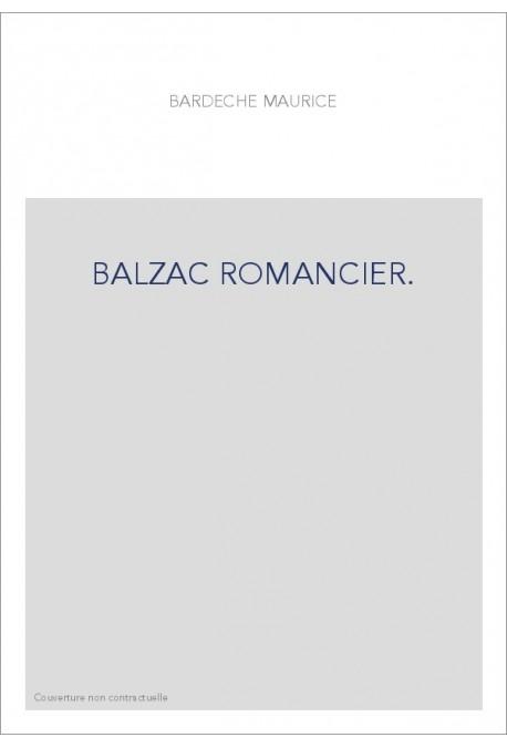 BALZAC ROMANCIER.