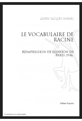 LE VOCABULAIRE DE RACINE