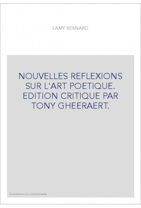 NOUVELLES REFLEXIONS SUR L'ART POETIQUE