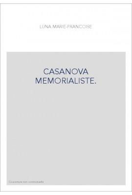 CASANOVA MEMORIALISTE.