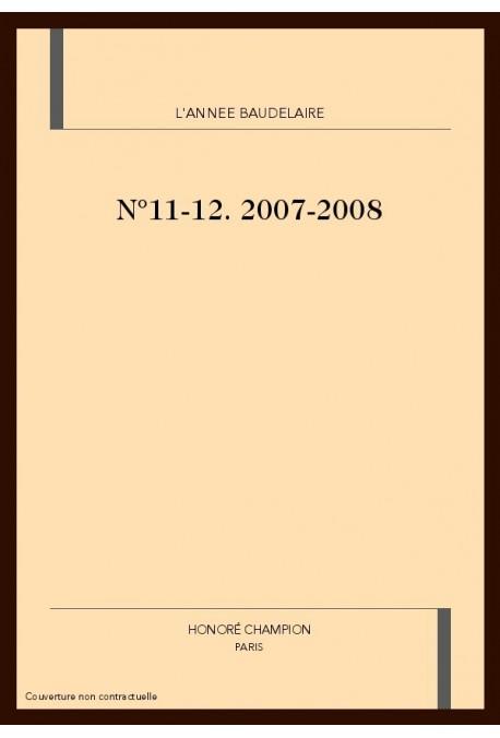 L'ANNÉE BAUDELAIRE N°11-12