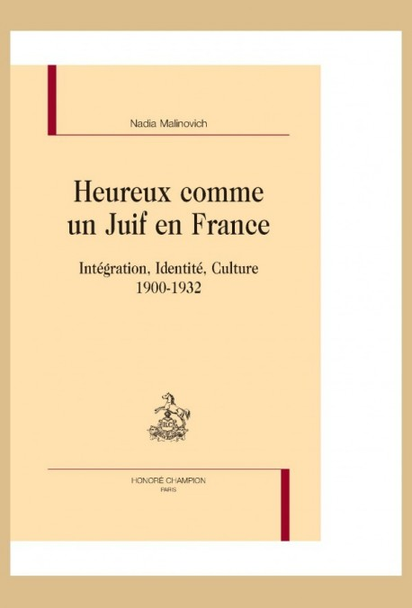 HEUREUX COMME UN JUIF EN FRANCE