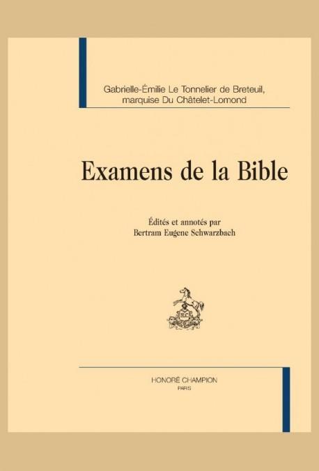 EXAMENS DE LA BIBLE