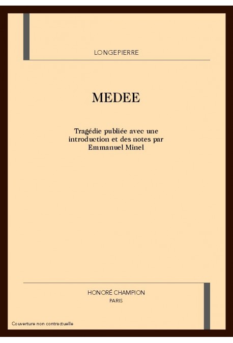 Medee Suivi Du Parallele De Mcorneille Et De Mracine1686 Et De