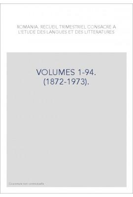VOLUMES 1-94. (1872-1973).