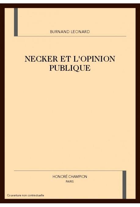 NECKER ET L'OPINION PUBLIQUE