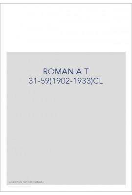 ROMANIA T 31-59(1902-1933)CL