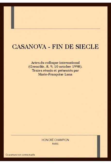 CASANOVA - FIN DE SIECLE