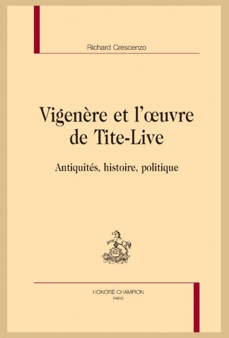 VIGENÈRE ET L'OEUVRE DE TITE-LIVE