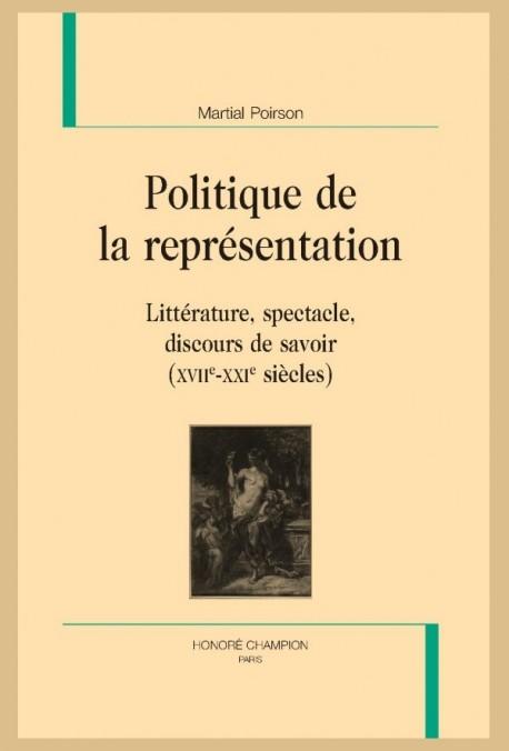POLITIQUE DE LA REPRÉSENTATION