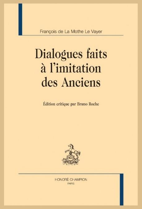 DIALOGUES FAITS À L'IMITATION DES ANCIENS
