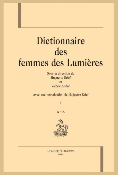 DICTIONNAIRE DES FEMMES DES LUMIÈRES