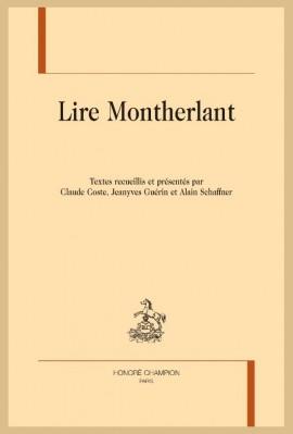 LIRE MONTHERLANT