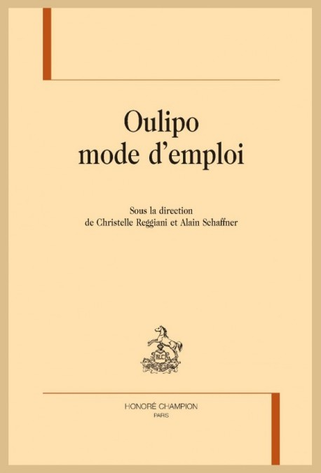 OULIPO MODE D'EMPLOI