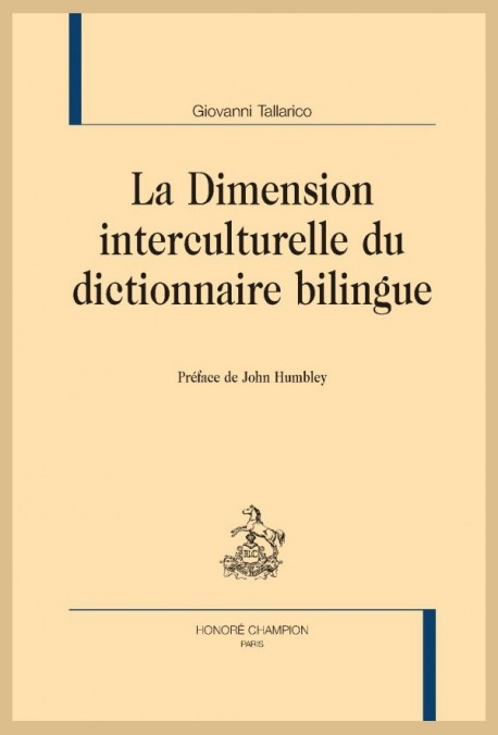 LA DIMENSION INTERCULTURELLE DU DICTIONNAIRE BILINGUE