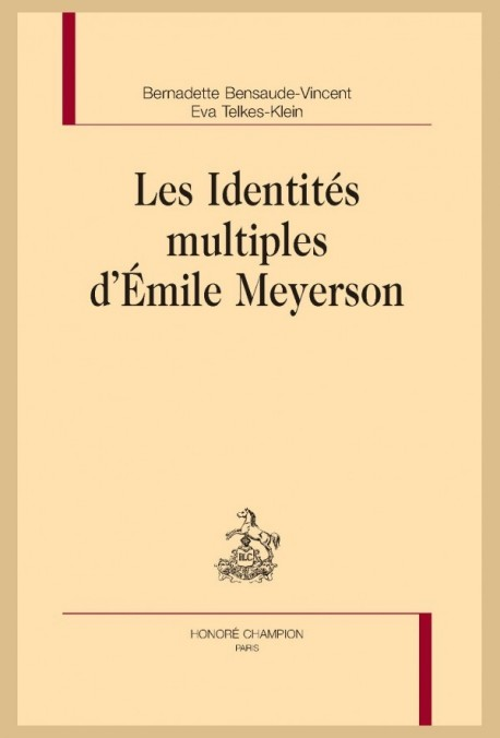 LES IDENTITÉS MULTIPLES D'ÉMILE MEYERSON