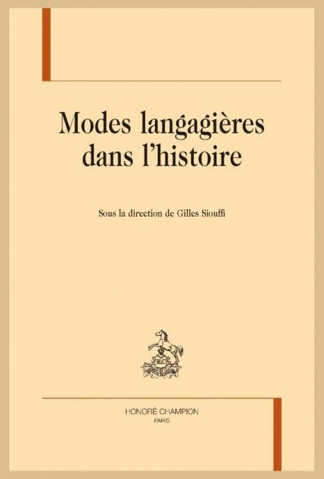 MODES LANGAGIÈRES DANS L'HISTOIRE