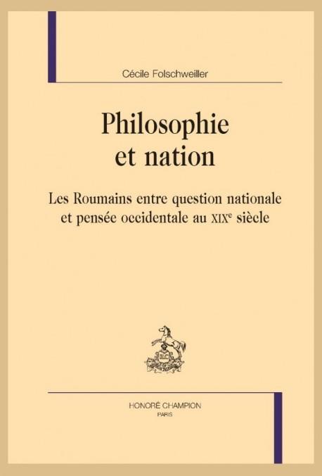 PHILOSOPHIE ET NATION