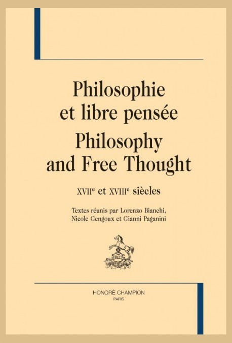 PHILOSOPHIE ET LIBRE PENSÉE. PHILOSOPHY AND FREE THOUGHT