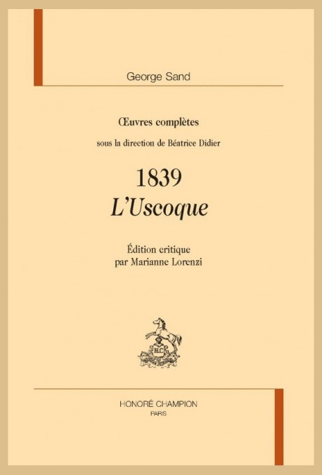 OEUVRES COMPLÈTES. 1839. L'USCOQUE