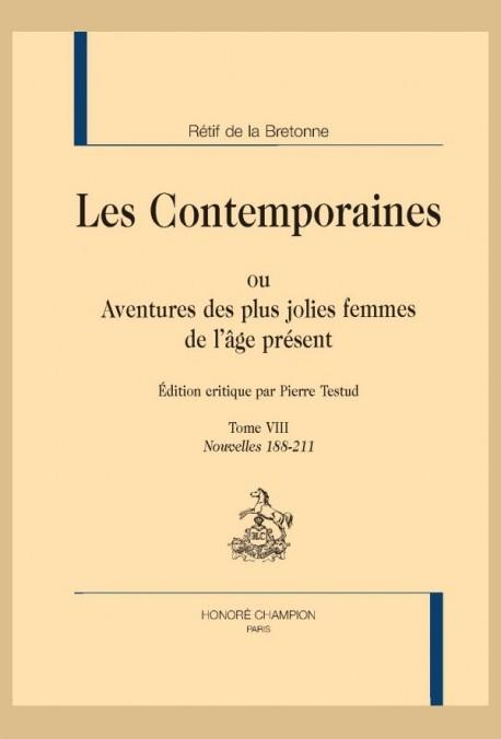 LES CONTEMPORAINES. TOME VIII.  NOUVELLES 188-211