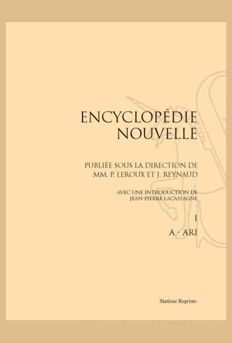 ENCYCLOPEDIE NOUVELLE