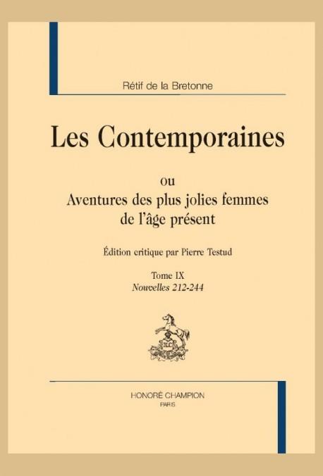 LES CONTEMPORAINES. TOME IX. NOUVELLES 212-244