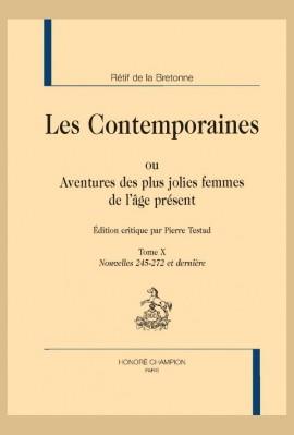 LES CONTEMPORAINES. TOME X. NOUVELLES 245-272 (ET DERNIÈRE)