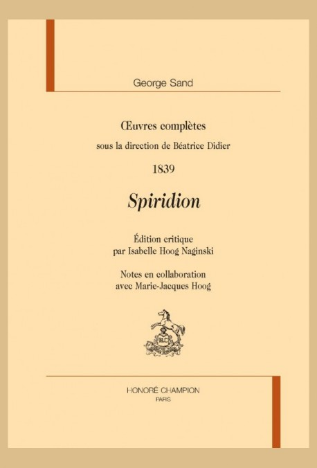 OEUVRES COMPLÈTES. 1839. SPIRIDION