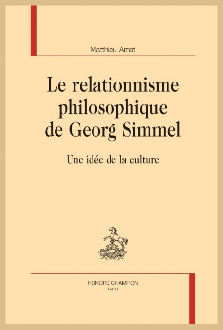 LE RELATIONNISME PHILOSOPHIQUE DE GEORG SIMMEL