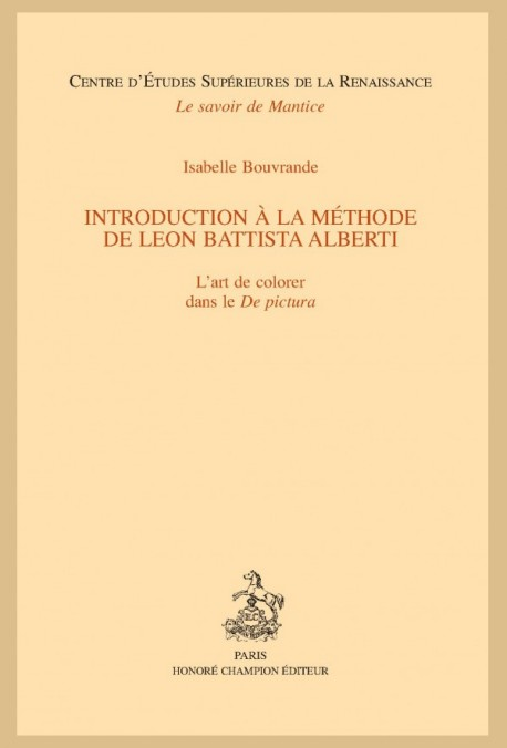 INTRODUCTION A LA MÉTHODE DE LEON BATTISTA  ALBERTI