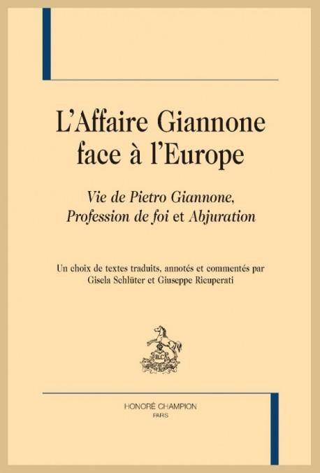 L'AFFAIRE GIANNONE FACE À L' EUROPE