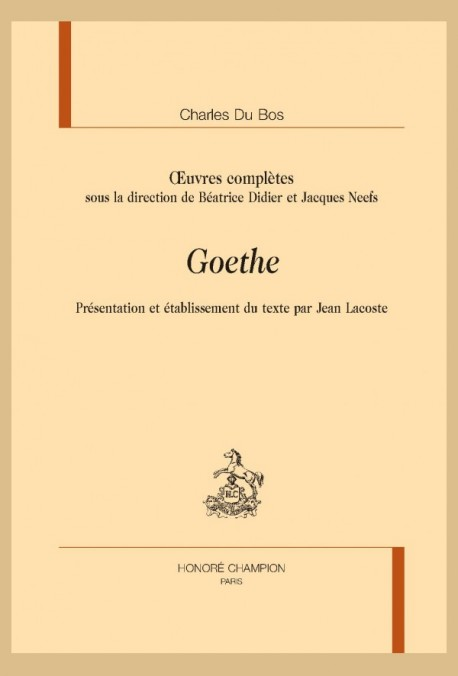 OEUVRES COMPLÈTES. GOETHE