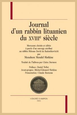 JOURNAL D'UN RABBIN LITUANIEN DU XVIIIE SIÈCLE, ATTRIBUÉ AU RABBIN SHLOMO DAVID DE RADOSHKOVITCHI