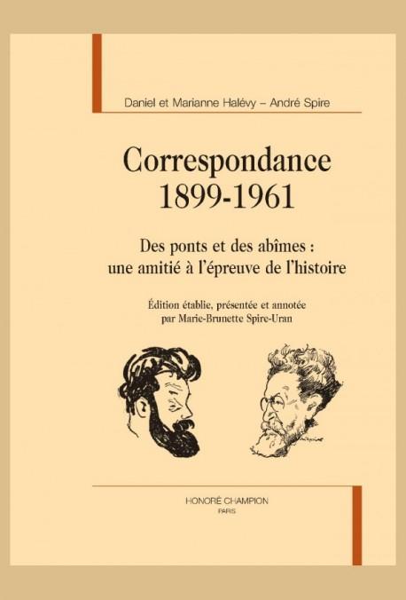 CORRESPONDANCE. 1899-1961