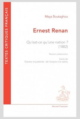 ERNEST RENAN, QU'EST-CE QU'UNE NATION ? (1882)