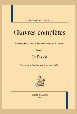 OEUVRES COMPLÈTES. TOME 1. DE L'ESPRIT