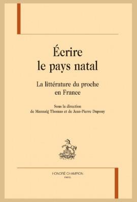 ÉCRIRE LE PAYS NATAL